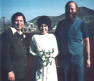 Photo: Ralph and Maria Gamez and YOBS, after I married them