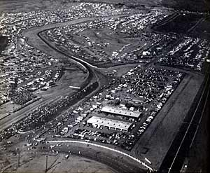 Photo: aerial view of Riverside Raceway in the mid-60s