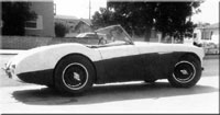 Thumbnail:  the '55 Healey 100 in San Diego, 1963