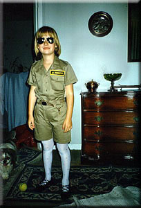 Photo: Kelsey at age 7, in her Jr. Zookeeper outfit.