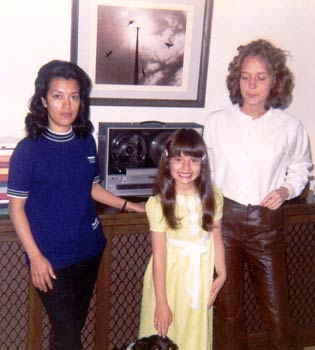 Photo: Margarita, Geneva, And Sandy. Had to be in 1970 or so