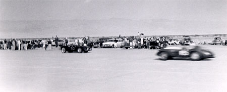 Photo: View of the South end of the pits, north of the 300SL/bales incident, south of the spinning Porsche