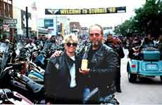 Photo: Debbie and Russell DeFields on the prowl in Sturgis.