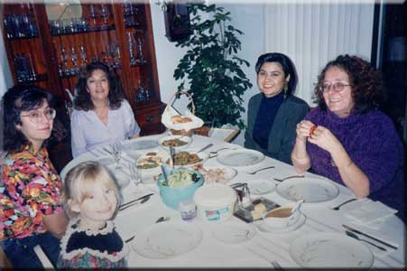 Photo of the gathering at table, 1995