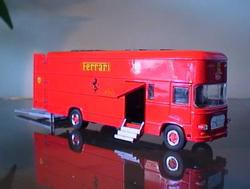 Thumbnail: Model of another kind of Race Transporter in Ferrari colors