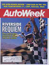 Scan: cover of AutoWeek's 07-25-88  issue