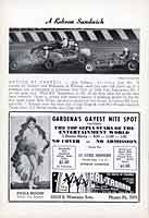 "Scan: Carrell Speedway Big Car Races January 1949   Phot  ""A Robson Sandwich"""