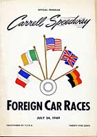 Scan: program cover Carrell Speedway  1949