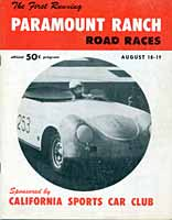 Scan:  Program cover   Paramount Ranch  races, August, 1956