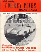 Thumbnail: scan of program cover, May 1955 Torrey Pines races