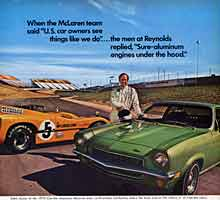 Scan:  1971 Vega ad showing the approach to Turn Six