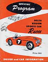 Scan: Delta Region SCCA (New Orleans, Louisiana) airport road races  of July 3, 1955   Program cover