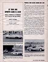 Scan: Pomona Sports Car Road Races  November  5-6, 1960   Formula 1 Story and pictures  Page One