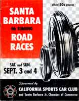 Thumbnail: 4th running, Santa Barbara Road Races, September, 1955  Program Cover