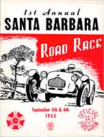 Thumbnail: 1st running, Santa Barbara Road Races, September, 1953  Program Cover