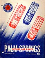 Scan: 10th Palm Springs road race  February, 1956  Program cover