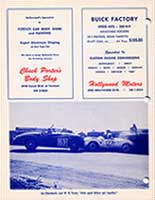 Scan: 10th Palm Springs road race  February, 1956  Adverts and  photo