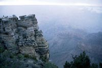 Thumbnail: View toward the North Rim from a Grand Canyon overlook, with figures