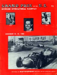 Scan: program from the one and only F-1 Grand Prix at Riverside