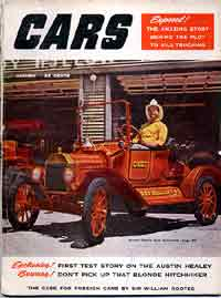 "Thumbnail:  magazine carrying the Austin-Healey at Le Mans story, October 1953 ""CARS"""