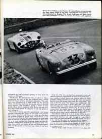 Thumbnail: fourth page of the Healeys at Le Mans article Click for a larger, LONG-LOAD  view