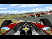 Thumbnail:  Looking uptrack from a spunout Ferrari   CLICK to see a larger version