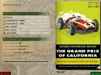 Thumnail:  Grand Prix Legends opening and setup screen with a 1967 race program scan   CLICK to see a larger version