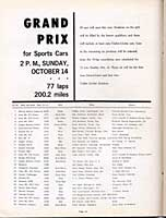 Scan: entry list page 1  Times Grand Prix  Riverside  1962