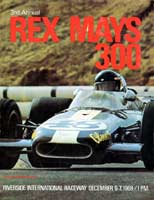 Scan: program  cover, Rex Mays 300  Riverside  1969