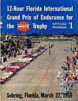 Scan: porgram from the 1958 Sebring 12-hour race