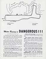 Thumbnail: scan of course map and cautions, 1955 Torrey Pines races