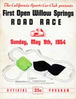 Thumbnail: scan of program cover, May 1954 Willow Springs races