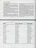 Scan: Riverside 500-Mile Stock Car Road Race  January, 1963   Official Etntries  First Page