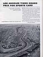 Scan: Riverside 500-Mile Stock Car Road Race  January, 1963   Times GP flack with overview from above Turn Six