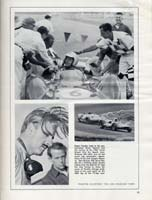 Scan: Riverside 500-Mile Stock Car Road Race  January, 1963   Times GP photo page with Roger Penske and Graham Hill