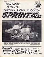 Scan: Cover of 1979 program for the Sprint Cars at Speedway 117, South San Diego