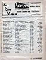 Scan: Pomona Sports Car Road Races  November  5-6, 1960  Entry list Page One
