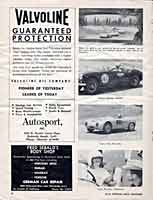 Scan: Pomona Sports Car Road Races  November  5-6, 1960  Women Racers  pictures  Page Two