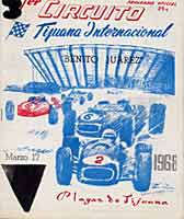Thumbnail: March, 1968 Circuito Benito Juarez races at Playas de Tijuana, Mexico  Program Cover
