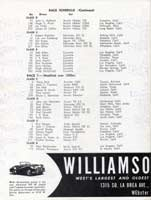 Thumbnail:  November, 1957 Palm Springs National Road Race   Entry List Page  Three