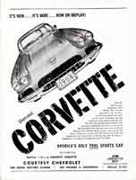 Thumbnail:  RRR at Willow Springs, March 1958    Corvette Advert