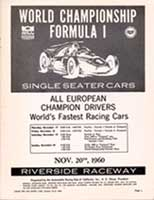 Scan: F-1 Advert Riverside International Raceway  1960