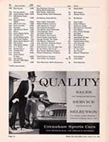 Scan: amateur entry  list 4 Riverside International Raceway  1960