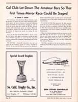 Scan: Pro Money Barrier article Riverside International Raceway  1960